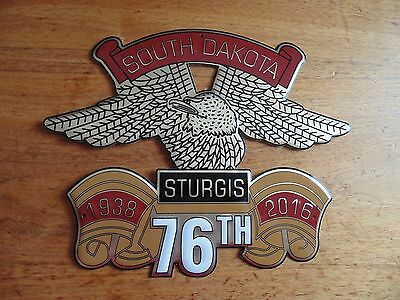 Sturgis & Eagle 2016 metal sign collectible 76th motorcycle rally emblem 16 NEW
