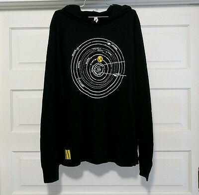 Rare Jack White Third Man Records Black Universe Longsleeve Shirt Hoody Size XL