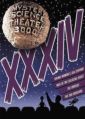 Mystery Science Theater 3000: XXXIV (DVD, 2015, 4-Disc Set) Brand New