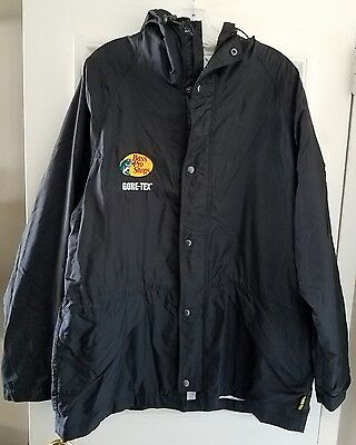 Bass Pro Shops Extreme Wet Weather Gore-Tex Rain Parka Jacket Hoodie XL Black