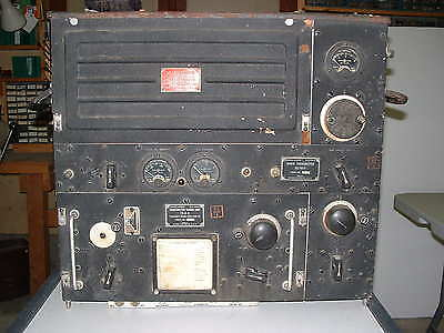 BC-191  TRANSMITTER, looks COMPLETE AND UN-MODIFIED with matching TU-6-B  WW-II