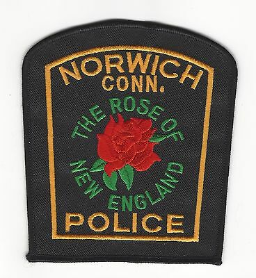 "Norwich (New London County) CT Connecticut Police Dept. ""Rose"" patch - NEW!"