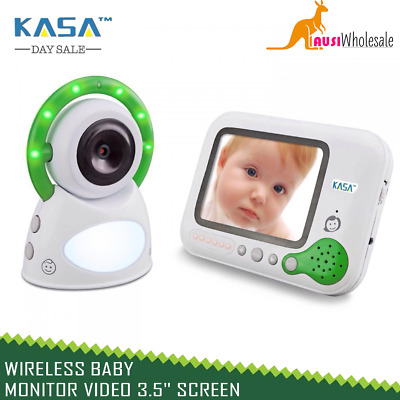 "New Wireless Baby Monitor Video 3.5"" Screen Secure 2.4GHz 200m Range"
