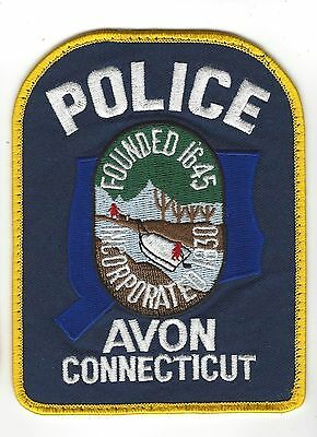 Avon (Hartford County) CT Connecticut Police Dept. patch - Nice!