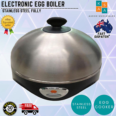 New Egg Boiler 7 Eggs Stainless Steel Fully Automatic Electric Soft Hard 2017