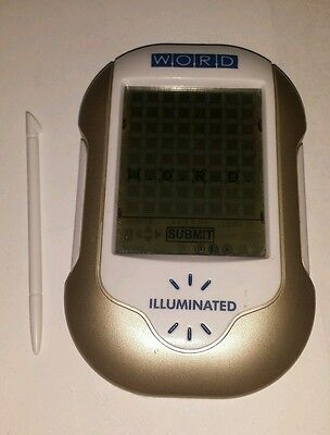 Techno Source Word Illuminated Handheld Electronic Game Great Working Condition