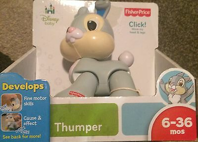 Disney Baby Thumper Click! Clicking Amazing Bunny Toy Fisher Price NIP Bambi