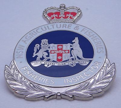 NSW Agriculture & Fisheries Inspector obsolete replica badge Not Police Fire