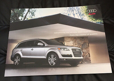 2007 Audi Q7 3.6 4.2 Premium Original Dealer Sales Car Brochure Prospekt