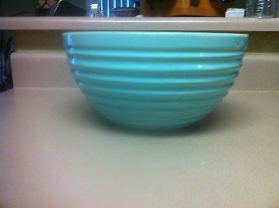 "Vintage Bauer Pottery Ring Ware Light Blue 10 1/4"" Bowl # 90 Rare"