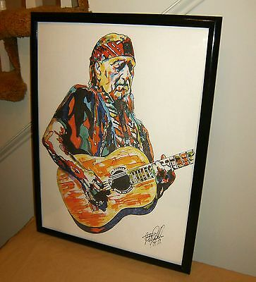 Willie Nelson, Singer Songwriter, Guitar Player, Country, 18x24 POSTER w/COA
