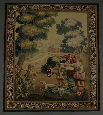 Antique French Aubusson Gorgeous Tapestry