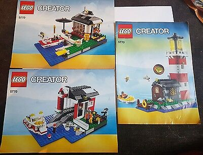 LEGO Creator 3 in 1 Lighthouse Island 5770 - Instruction Manual only - Free Post