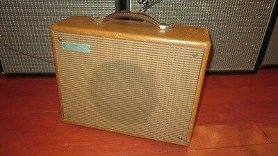 Vintage Circa 1959 Magnatone Starlet Guitar Amplifier Brown Fully Serviced Cool!