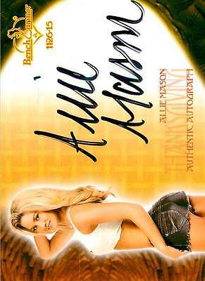 Allie Mason 34 2016 Bench Warmer Eclectic 2015 Thanksgiving Auto Larger