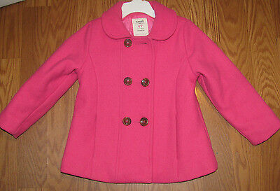 Old Navy Girls Toddler Coat 4T Pink Wool Coat