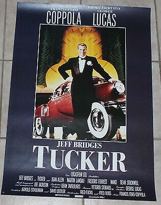Jeff Bridges Tucker automobile other style German movie poster vintage car