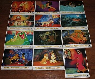 All Dogs Go To Heaven lobby card set 12 Don Bluth animation