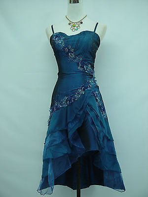 Cherlone Blue Prom Ball Evening Wedding Formal Bridesmaid Dress Size 24-26
