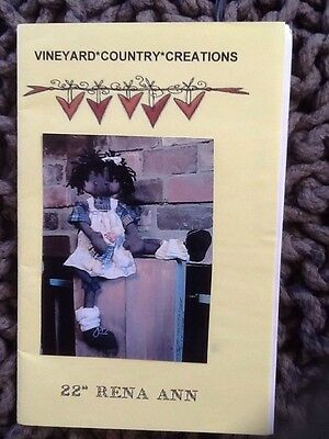 22inch Rena Anne Doll Pattern By Vineyard Country Creations