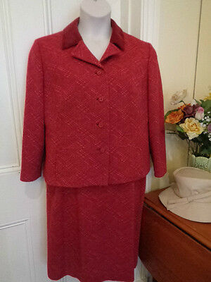 Vintage Pure Wool Suit  (Skirt & Jacket)By Richard Baker Made In England