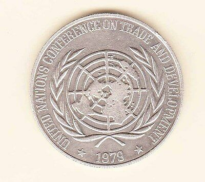Philippines 1979 UN Conference on Trade & Dev.( Silver ) Large Crown, Commem UNC