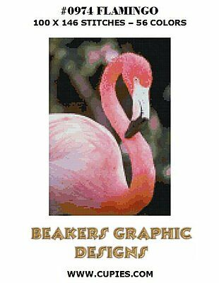 FLAMINGO Counted Cross Stitch detailed #0974
