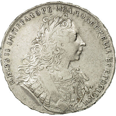 [#471026] Russland, Peter II, Rouble, 1729, SS, Silber, KM:182.3