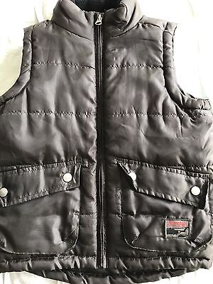 Boys Chocolate Lined Puffer Vest, Size 6