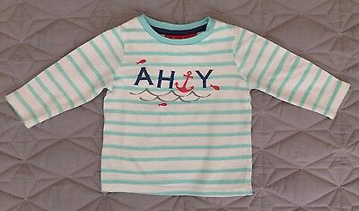 Sprout Baby Clothing Sailor Tee T-shirt Pirate Fishing Size 000