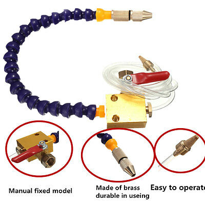 HOT! Mist Coolant Lubrication Spray System For 8mm Air Pipe CNC Lathe Mill Drill