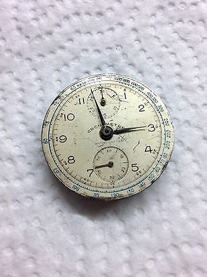 Venus 170 Chronograph Movement With Dial For Repair Watch Uhr Montre