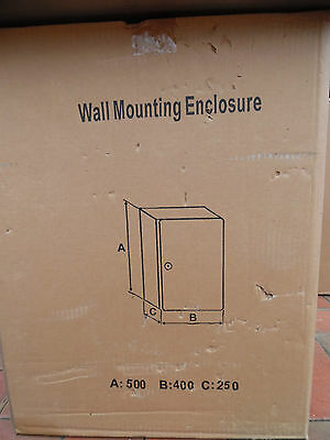 400W 500H 250D  316 Stainless Wall Mount cabinet Toten stx4525 RRP $510