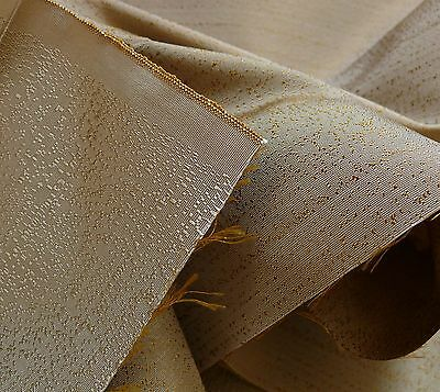 """10Y Lee Jofa Staccato Speckled Silk Taffeta Sophisticated """"sandstone Gold"""