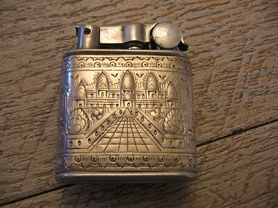 *** Ancien Briquet essence NOVA gaine argent indo Silver Lighter Feuerzeug