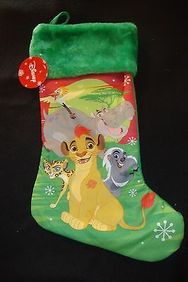 Disney Lion Guard Character  Furry Top  Christmas Stocking Nwts