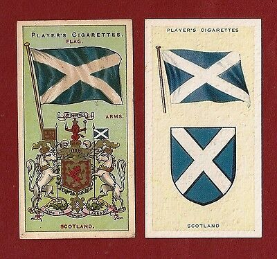 The SALTIRE SCOTLAND National Flag  St Andrew's Cross 1905 & 1938 original cards