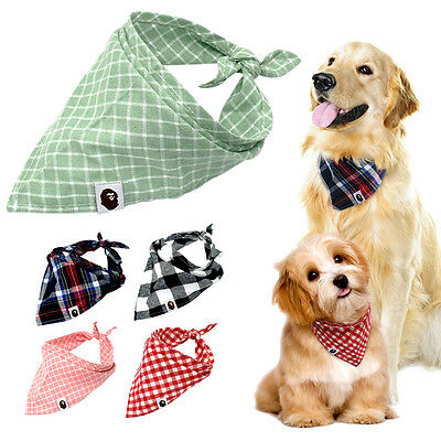 5pcs Bandana-Style Dog Collar Soft Cotton Pet Cat Puppy Neck Scarf Neckerchief