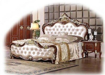 Emperor Bonded Leather 3 Piece Mahogany and Ivory KING Suite  - BRAND NEW