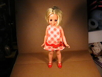 Vintage Ideal Crissy Family Velvet Doll W/ Outfit Dress Panties Shoes Hair Works
