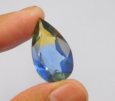 15 Cts. Treated Faceted Pear Shape Ametrine Cut Loose Cab Gemstone NG2016