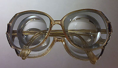 Vintage RODENSTOCK Large High Myopic Woman Glasses Thick Biconcave Myodisk Lense