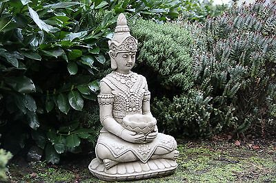 Large Lotus Buddha Stone Garden Ornament Detailed Sculpture Handcast Statue Koi