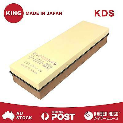 KING 1000/6000 Grit Japanese Whetstone Waterstone Knife Sharpening Water Stone