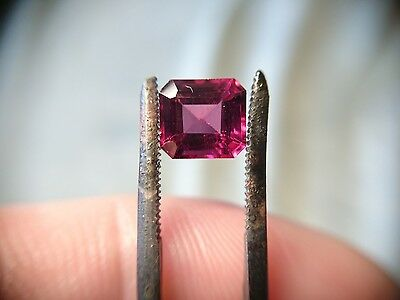 1.95ct Loose Emerald cut vvs1 Rhodolite Garnet Raspberry Pink scrap gold gems