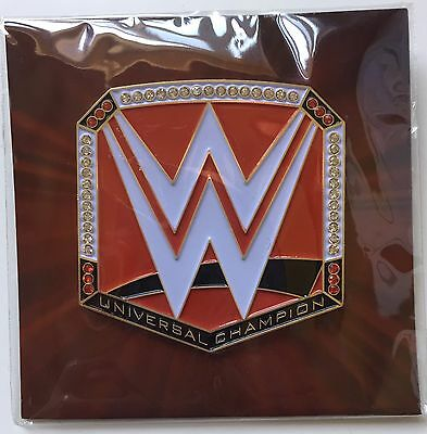 WWE 'Universal' Champion Enamel Pin/Badge **WWE Loot Crate Exclusive**