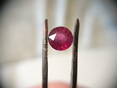 2.80ct Loose Round mixed cut 8mm Real Rhodolite Garnet untreated pink scrap gold