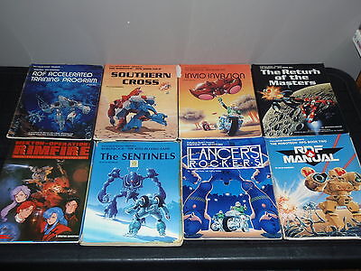 Lot Of 8 Robotech Rpg Books Rdf Sentinels Return Of The Masters More