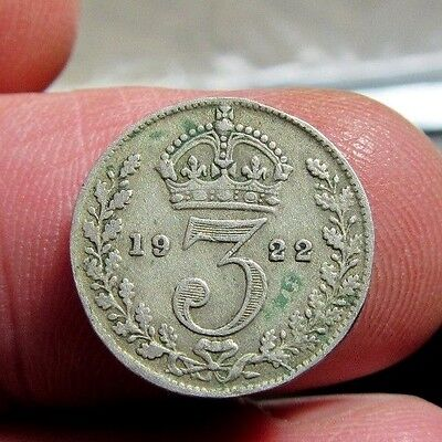 1922 Silver Threepence King George V th