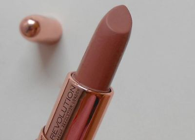 MakeUp Revolution Rose Gold Lipstick Chauffeur Nude Full Size Sealed Authentic
